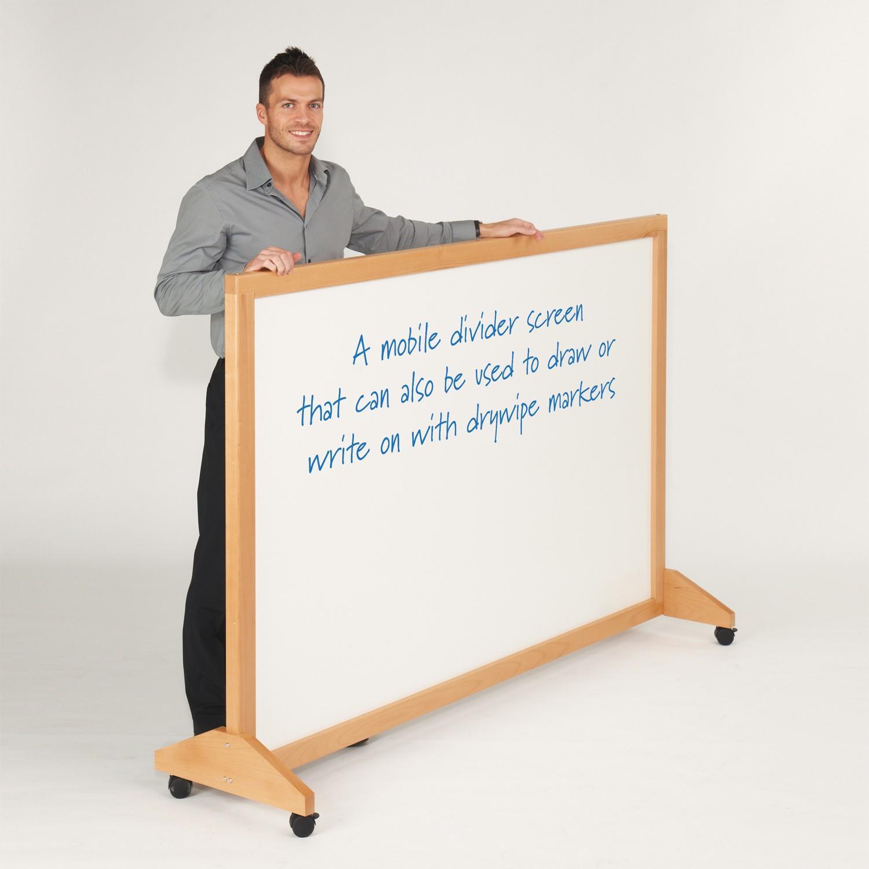 WriteOn Mobile Wood Framed Whiteboards