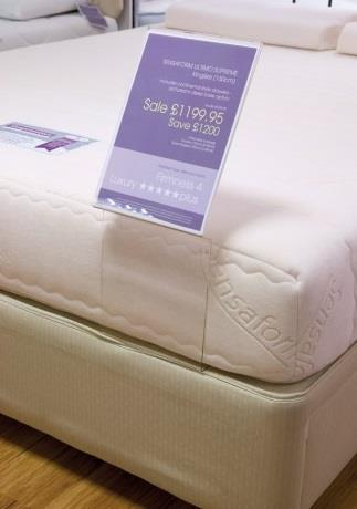 Acrylic Bed Mattress Sign & Information Holder