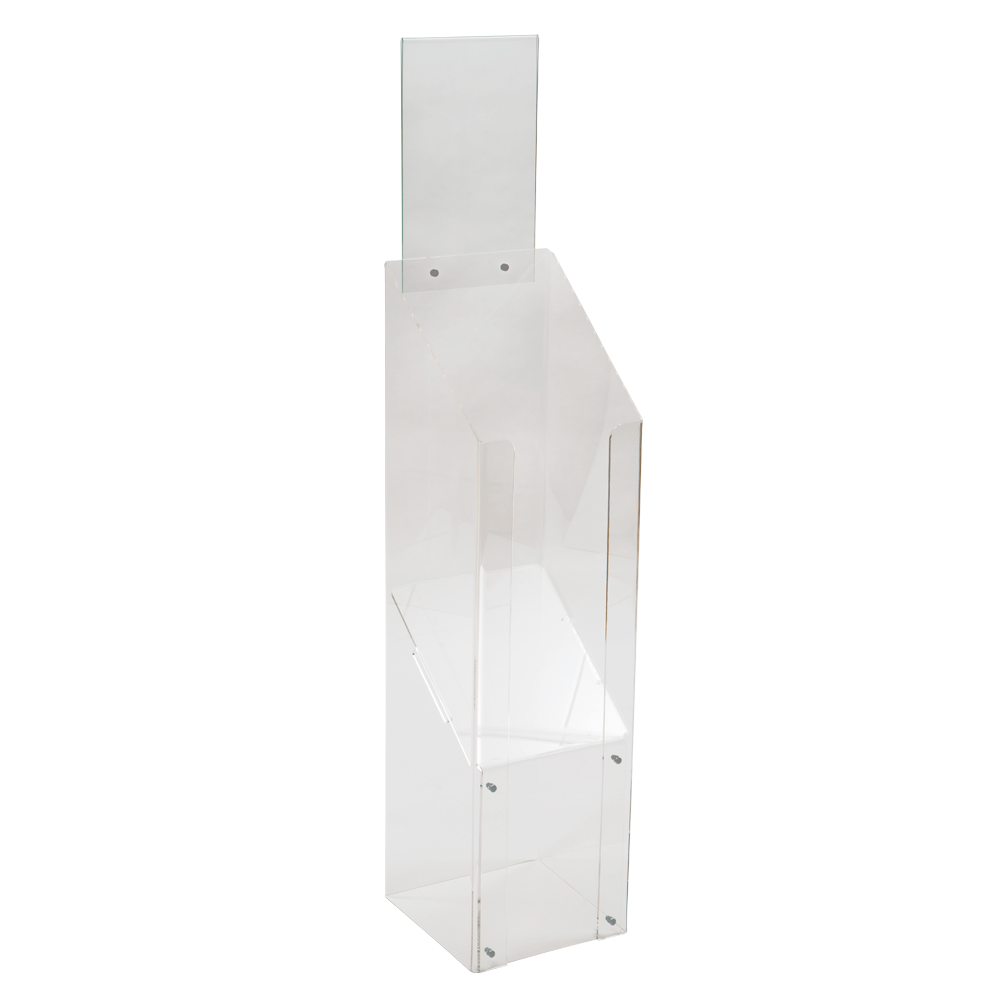 Clear Acrylic Magazine Stand - Freestanding