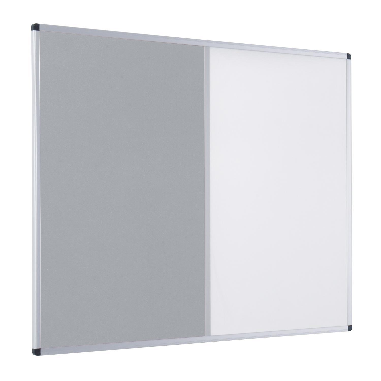Metroplan Aluminium Framed Felt/Drywipe Dual Noticeboards