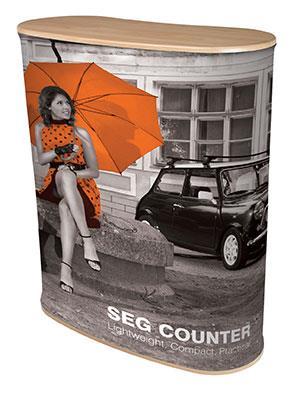 SEG Printed Fabric Display Counter