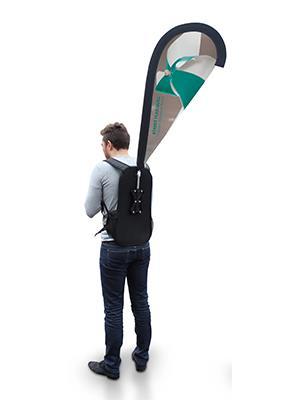 Rucksack & Backpack Advertising/Promotional Street Flag