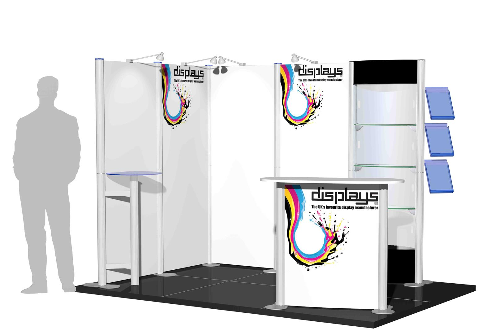 Centro 3x2 Exhibition Stand - Open 2 Sides