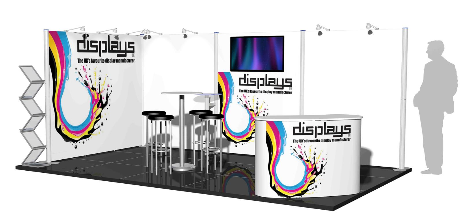 Centro 5x3 Modular Exhibition Stand - C5x3-2a
