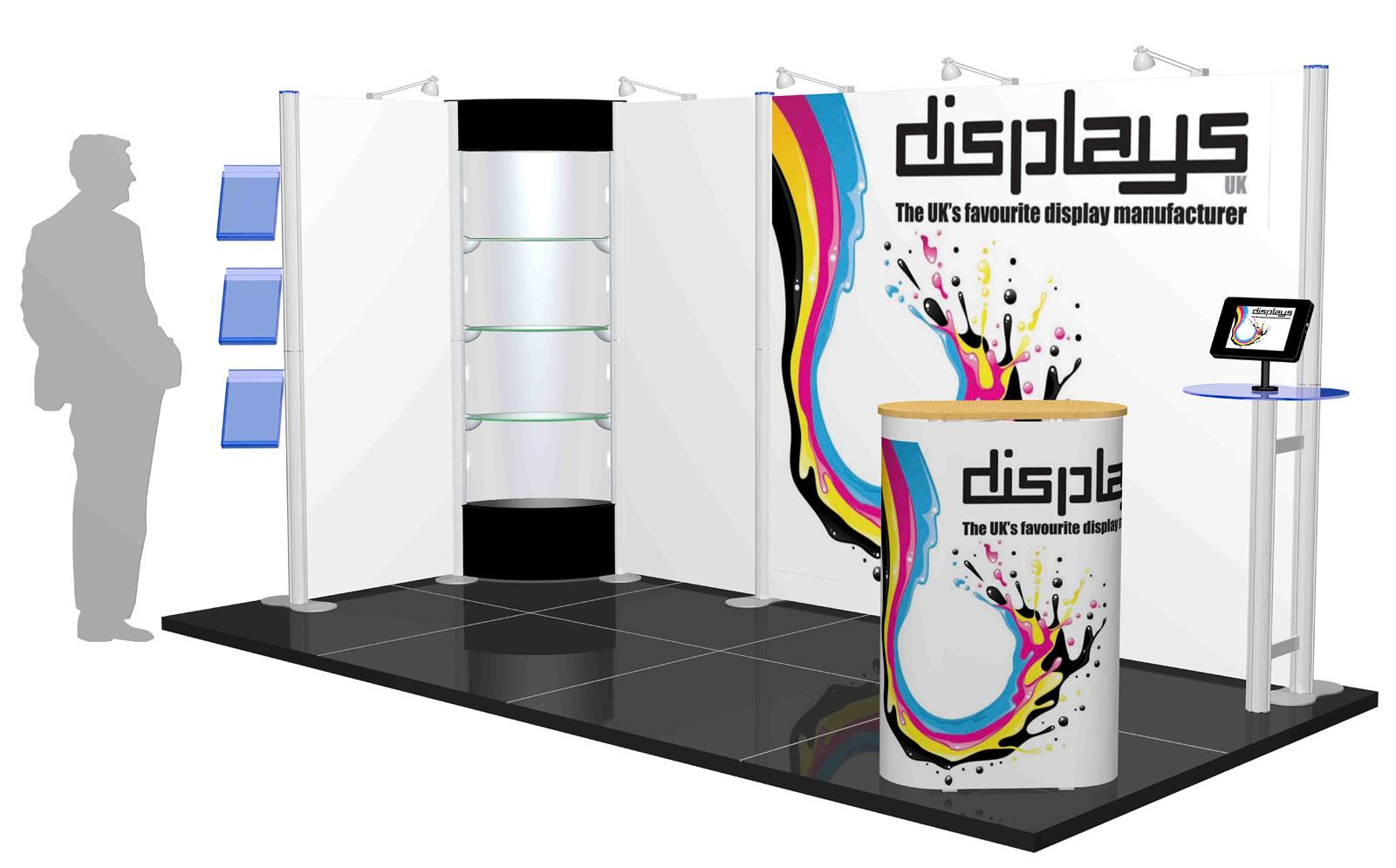 Centro 4m x 2m Modular Exhibition Stand - C4x2-2a