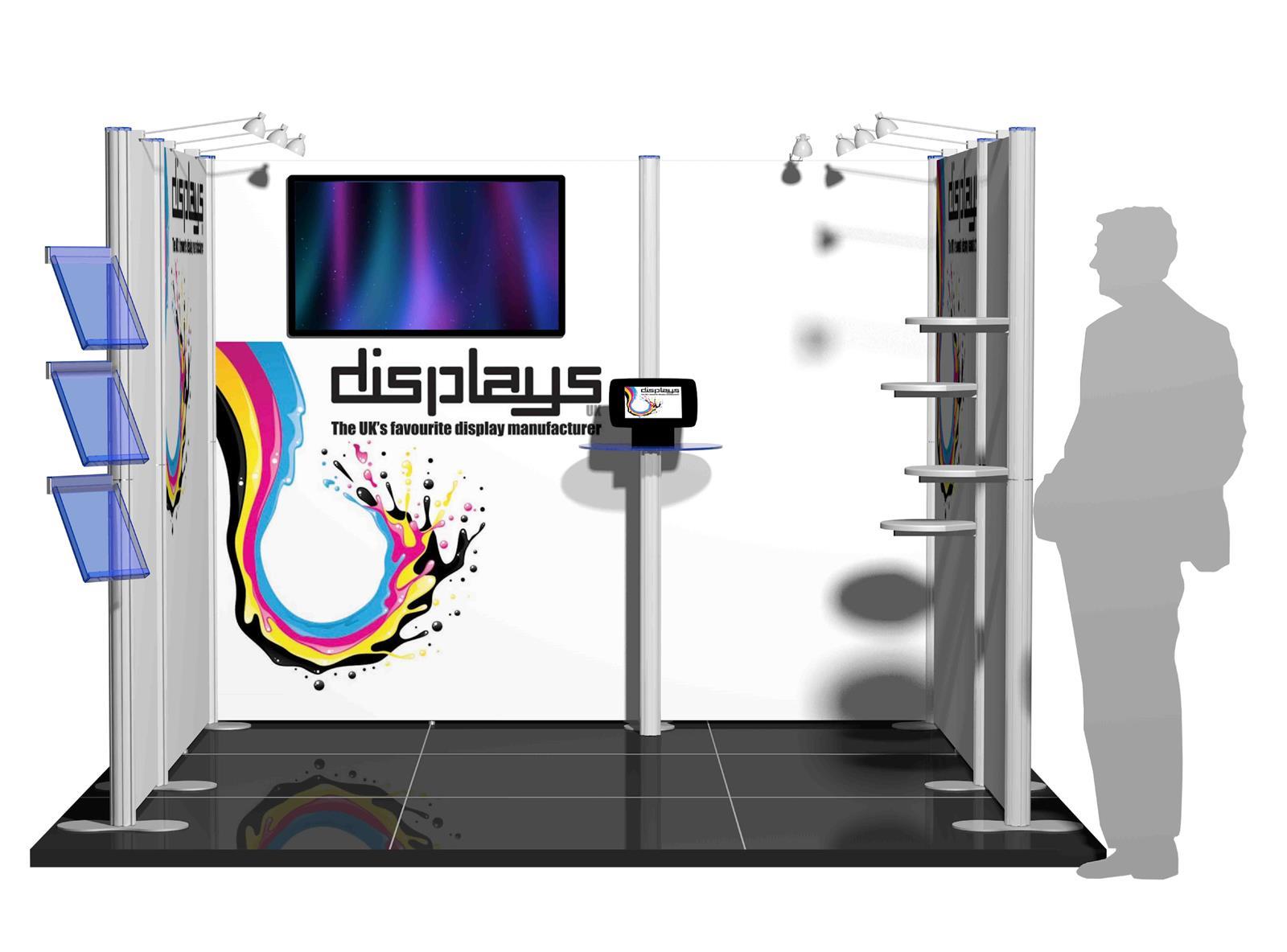 Centro 3m x 3m Modular Exhibition Stand - C3x3-1a