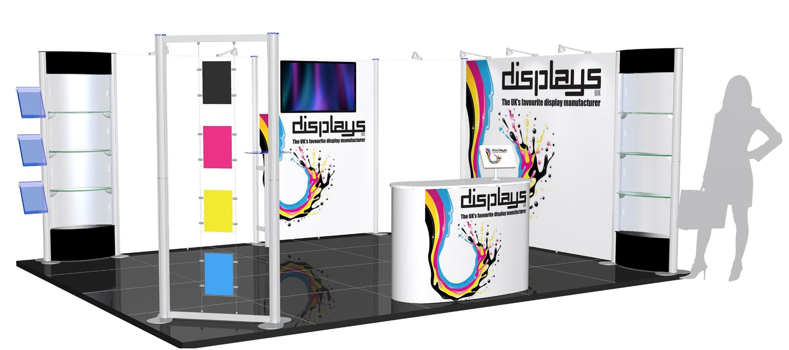 Centro 5m x 4m Modular Exhibition Kit - C5x4-2a