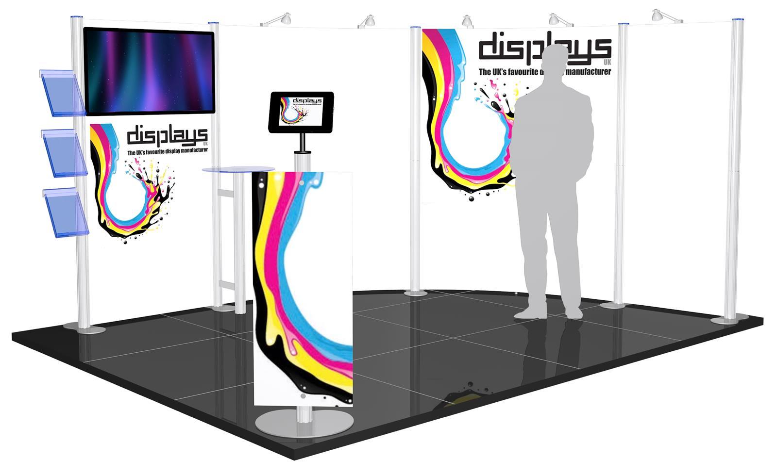 Centro 4m x 3m Modular Exhibition Stand - C4x3-2b