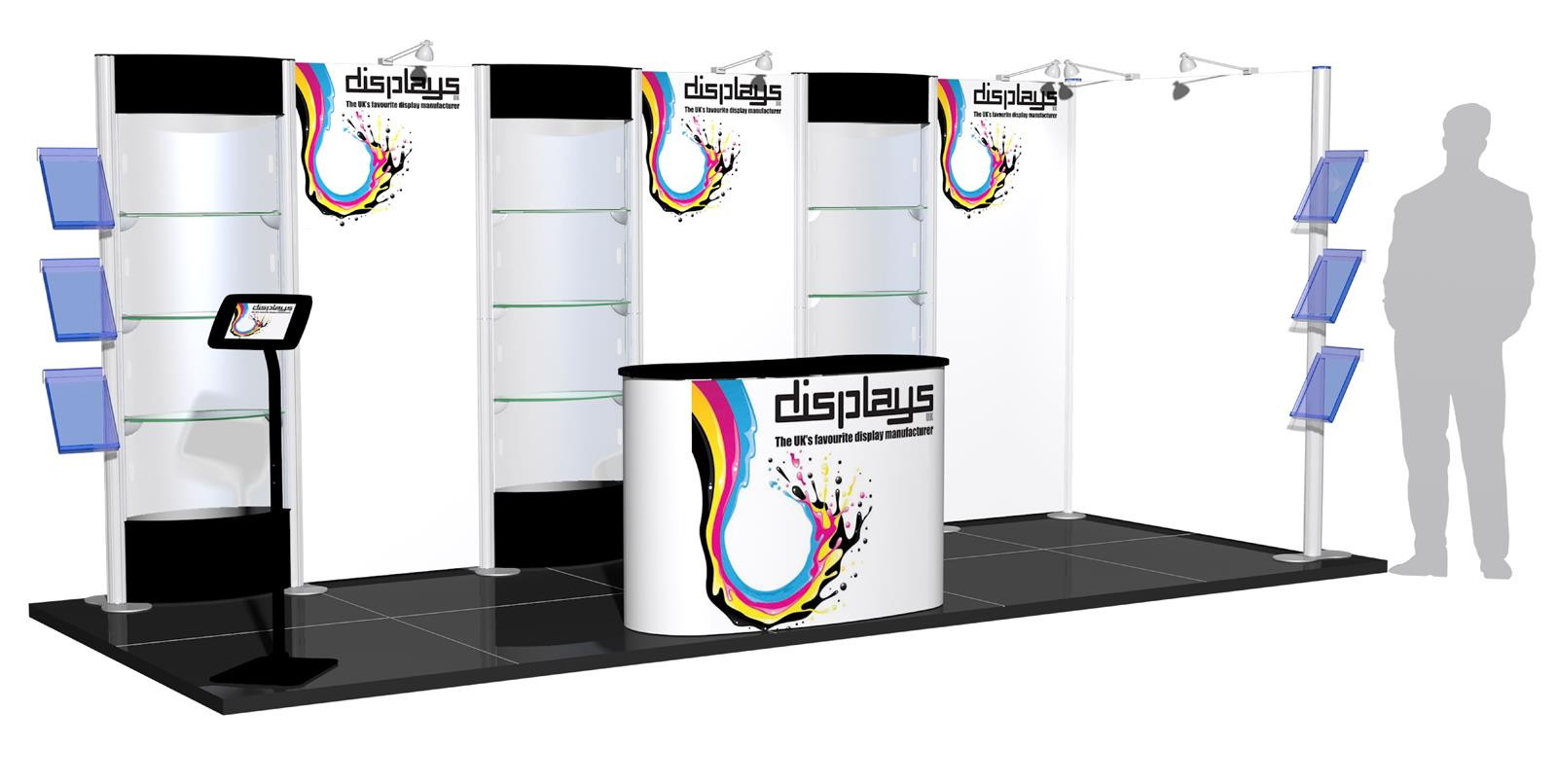 Centro 5m x 2m Modular Exhibition Stand - C5x2-2a