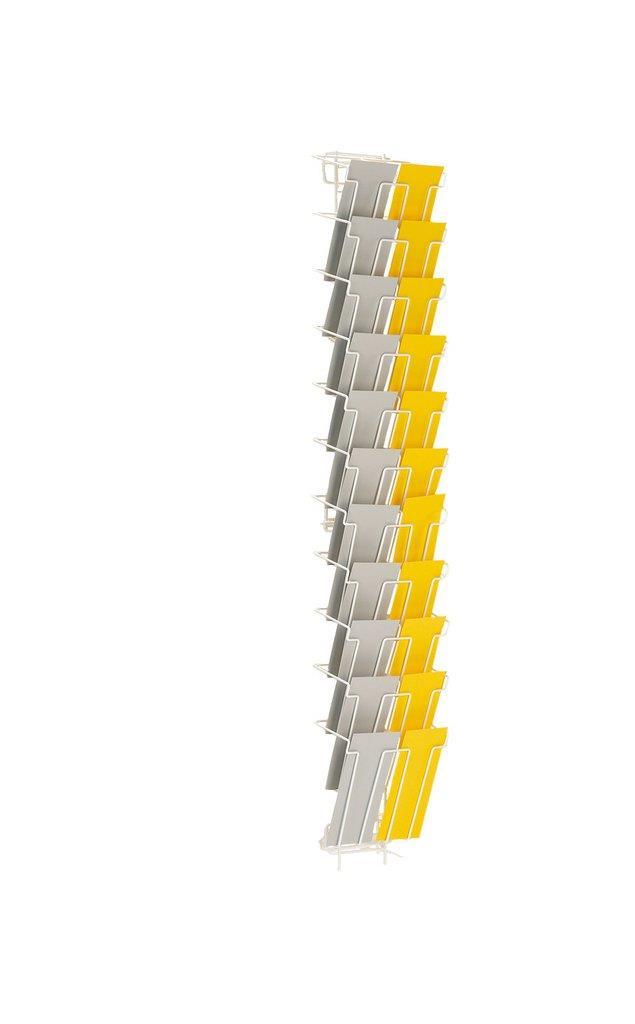 1/3 A4 22 Pocket Wall Rack Leaflet Holder