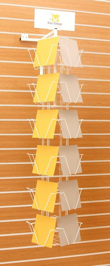 Slat Wall Rotating Greeting Card Display