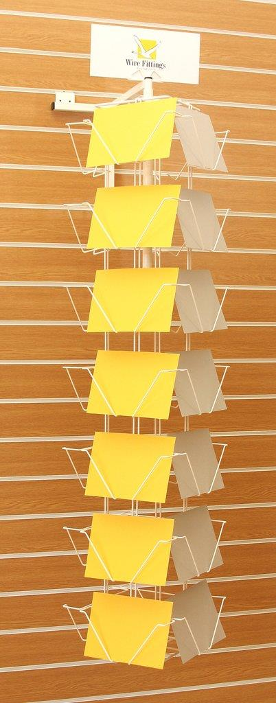 28 Pocket Slat Wall Rotating Greeting Card Display