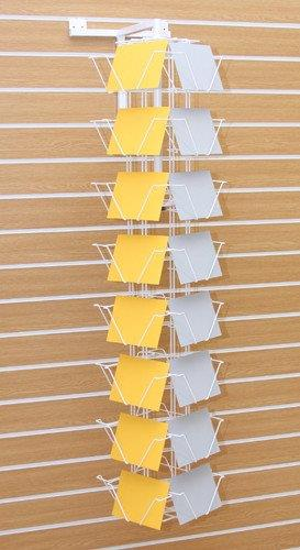 32 Pocket Slat Wall Rotating Greeting Card Display