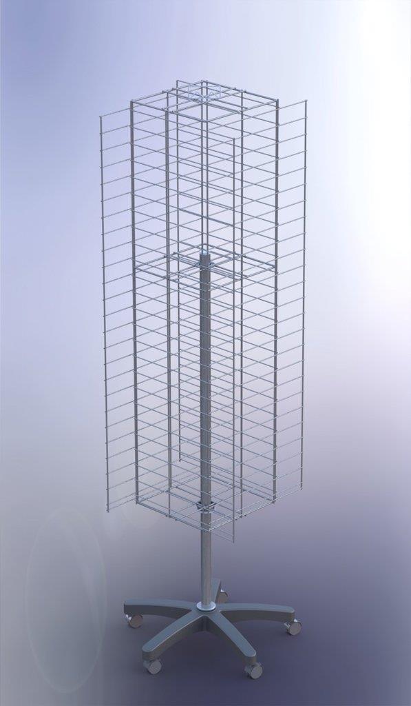 Multi-Purpose Rotating Mesh Floor Stand