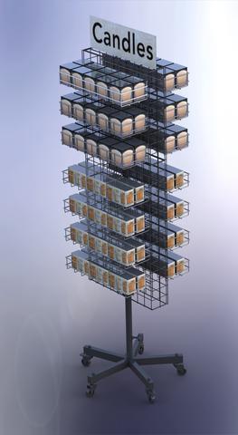 Rotating Mesh Shop Display Stand