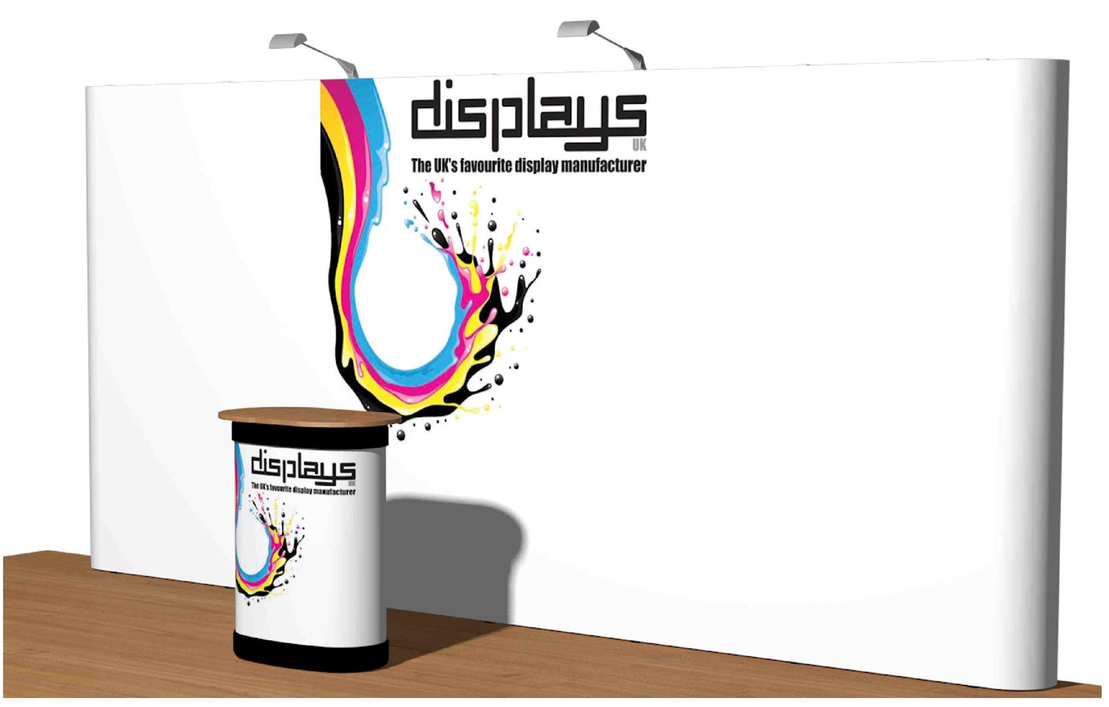 3x5 Visage Straight Premium Pop Up Exhibition Stand