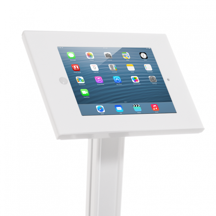 iPad Floor Stand with Optional Literature Units