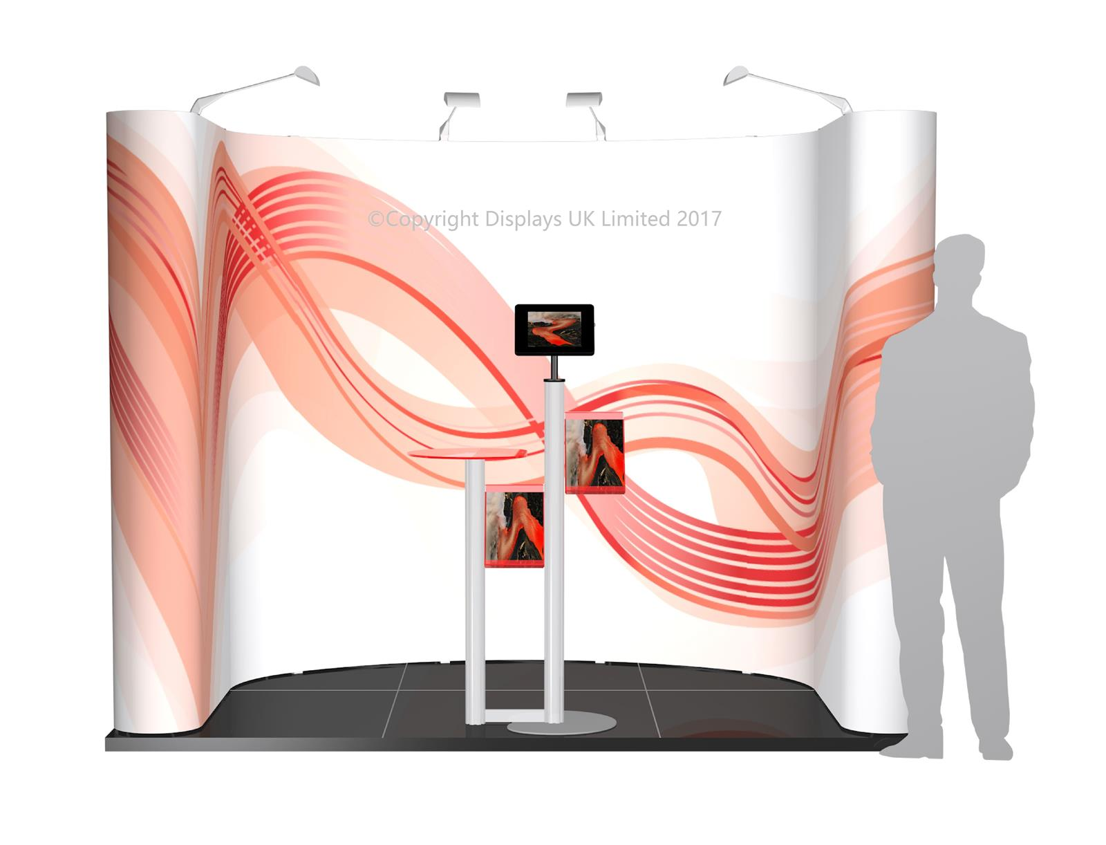 3m x 2m Linked Pop Up Exhibition Stand - Kit 2 -P3x2-1aC