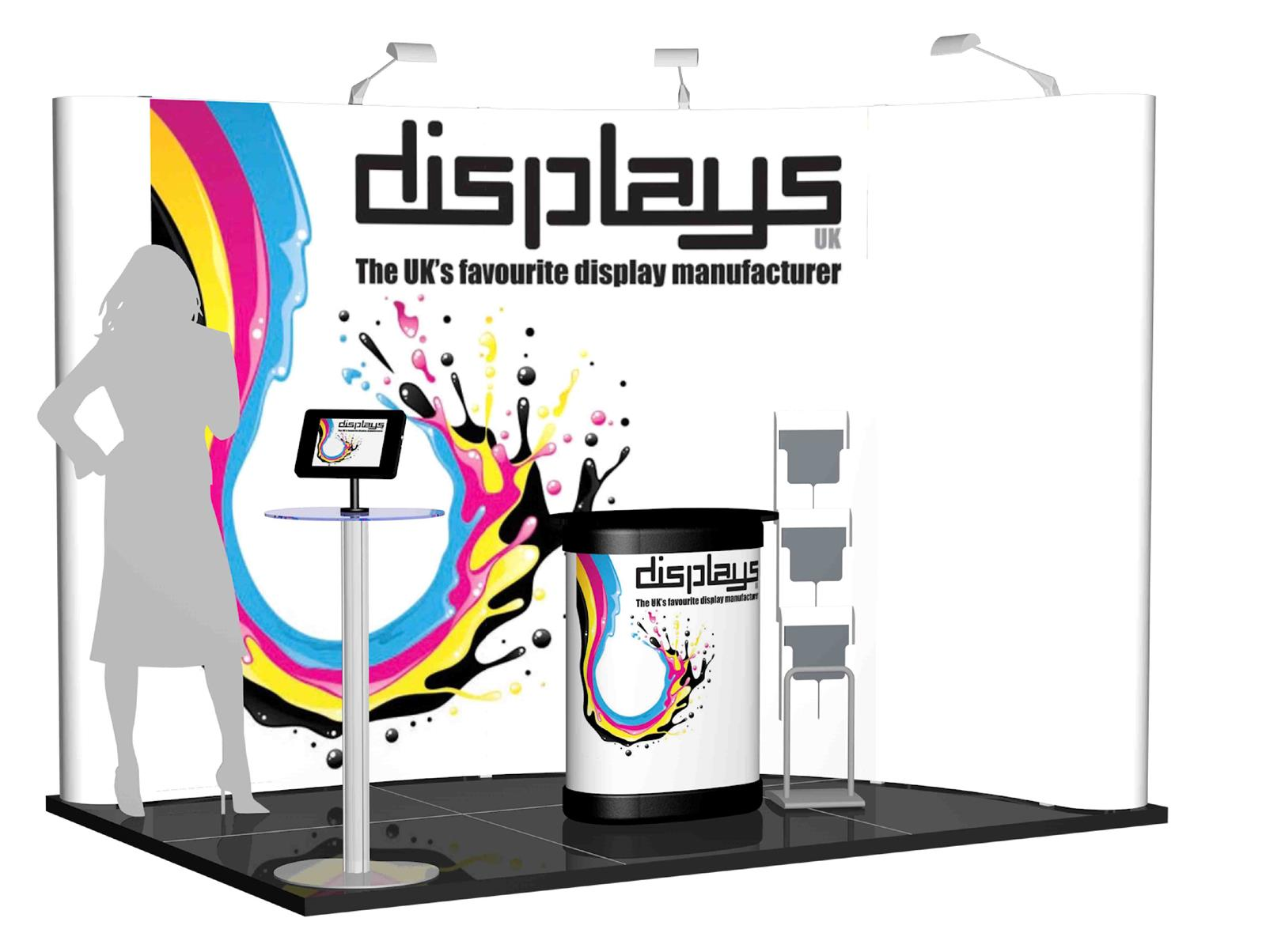 3m x 2m Linked Pop Up Exhibition Stand - Kit 4 - P3x2-2aC