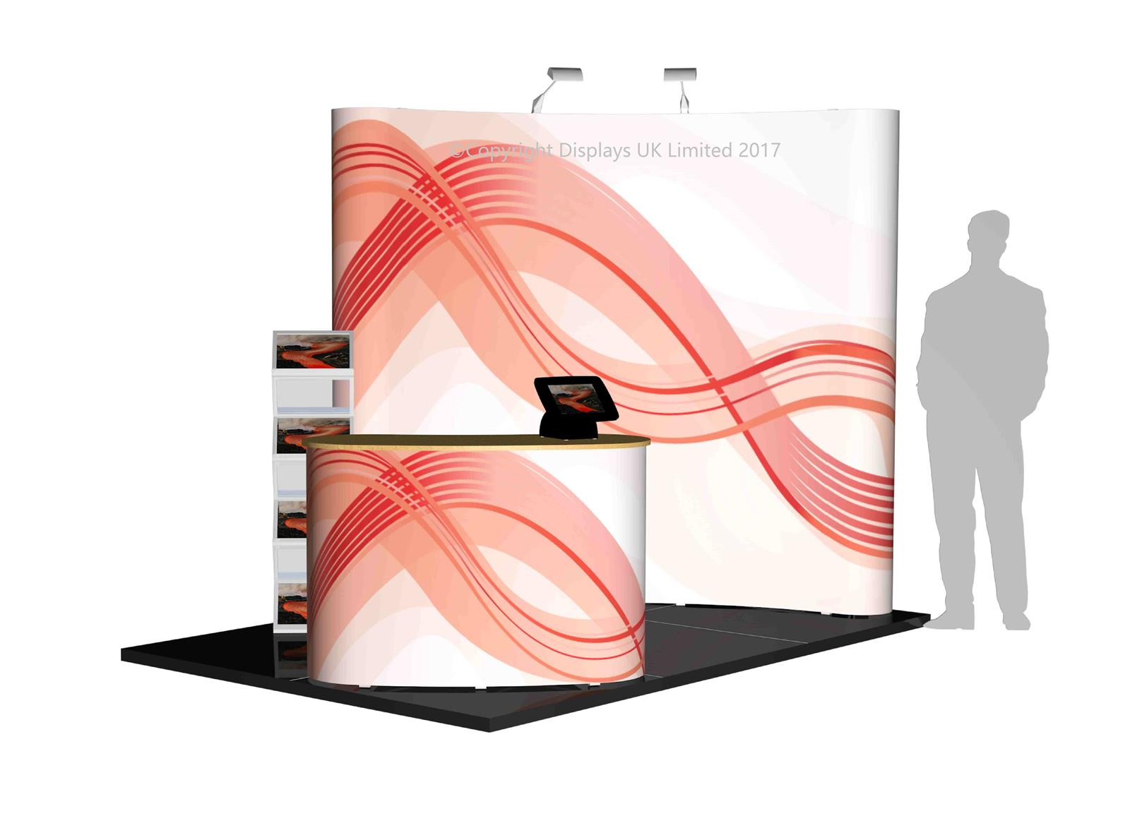 3m x 2m Linked Pop Up Exhibition Stand - Kit 6 - P3x2-2bC