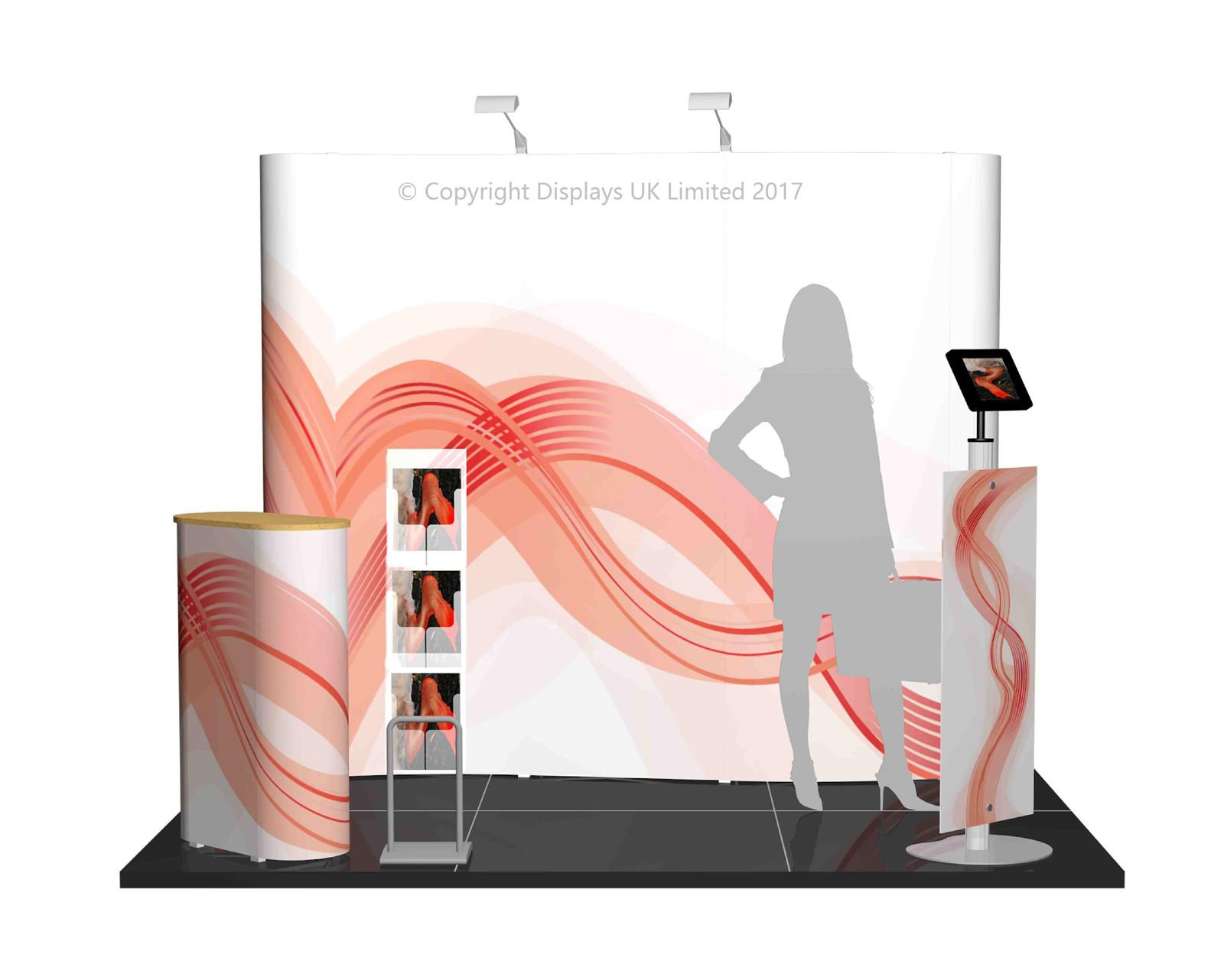 3m x 2m Linked Pop Up Exhibition Stand - Kit 7 - P3x2-3aH