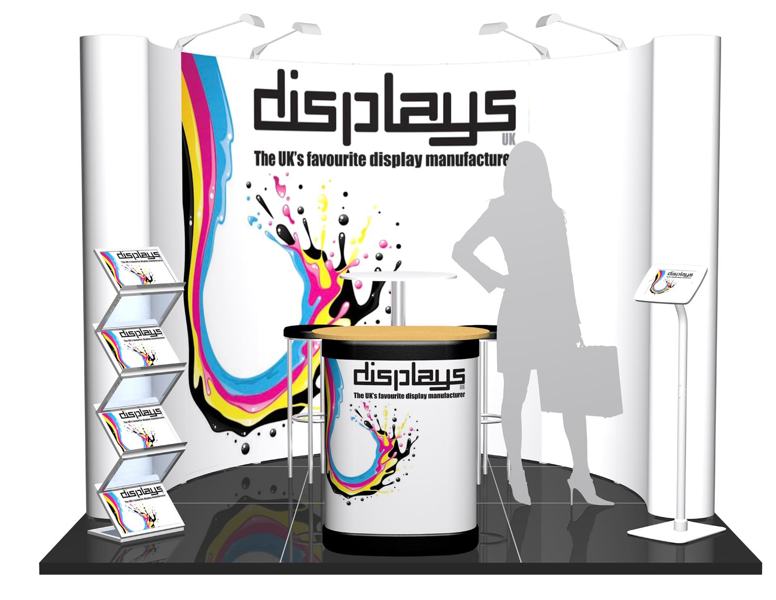 3m x 3m Linked Pop Up Exhibition Stand - Kit 11 -  P3x3-1aC