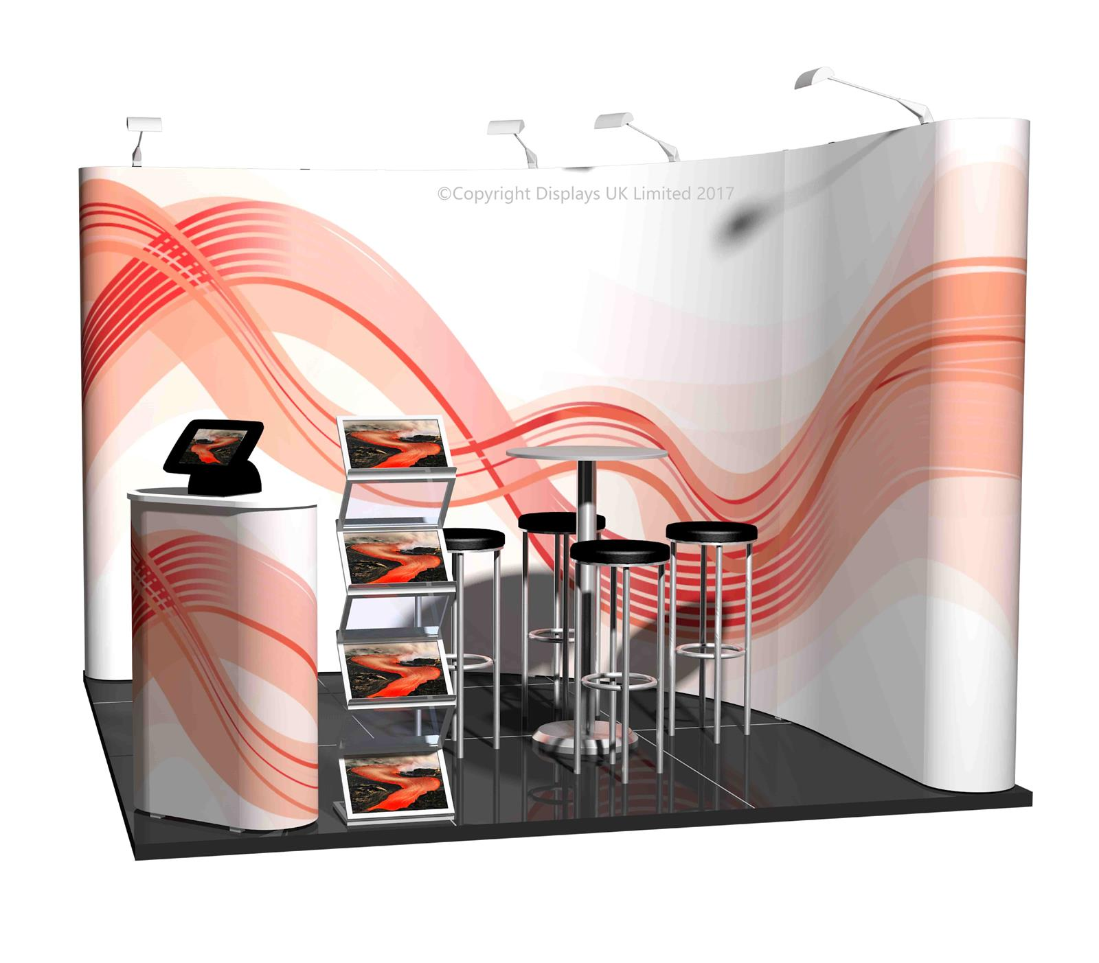 3m x 3m Linked Pop Up Exhibition Stand - Kit 15 - P3x3-2bC