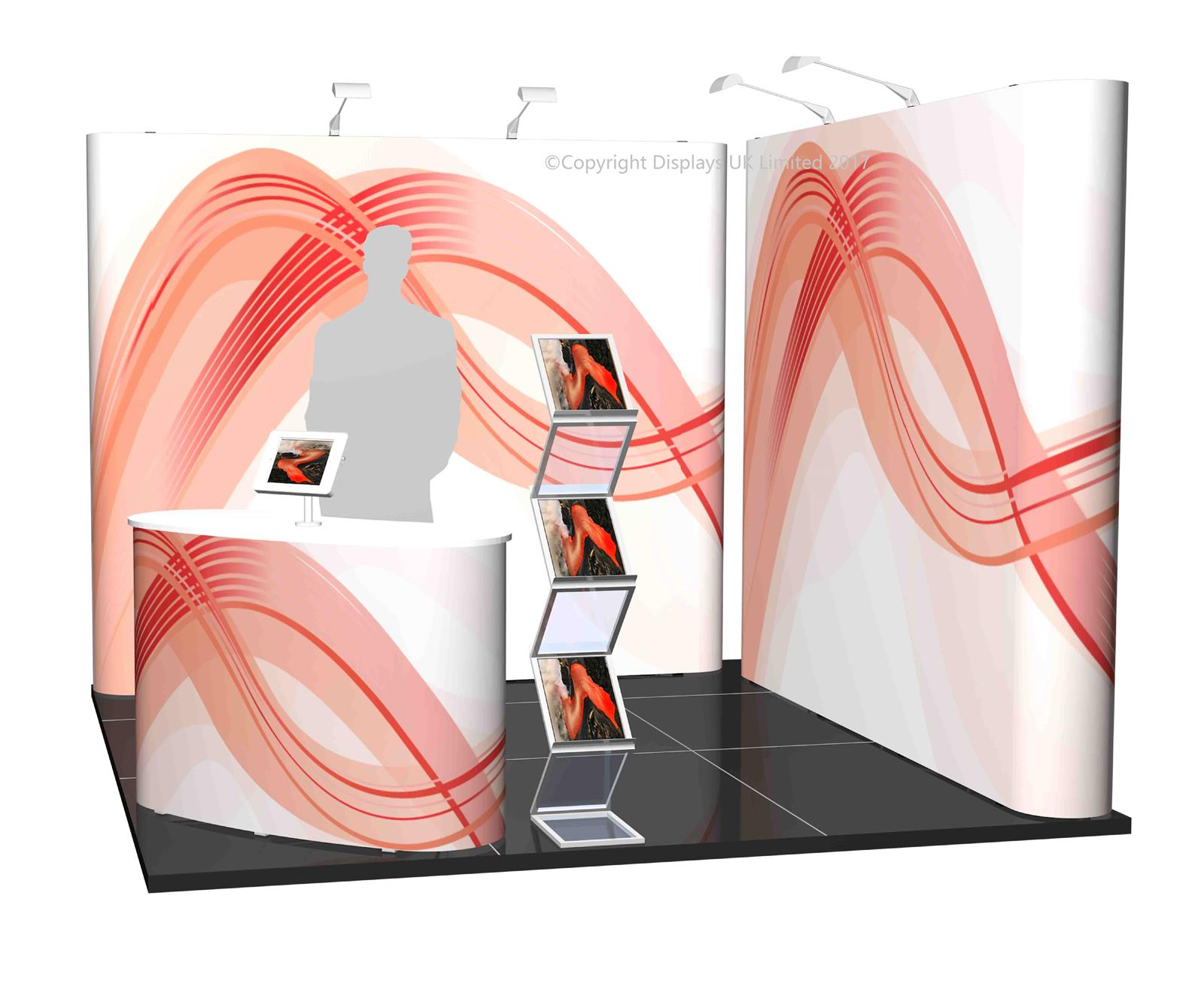 3m x 3m Linked Pop Up Exhibition Stand - Kit 16 - P3x3-2bS