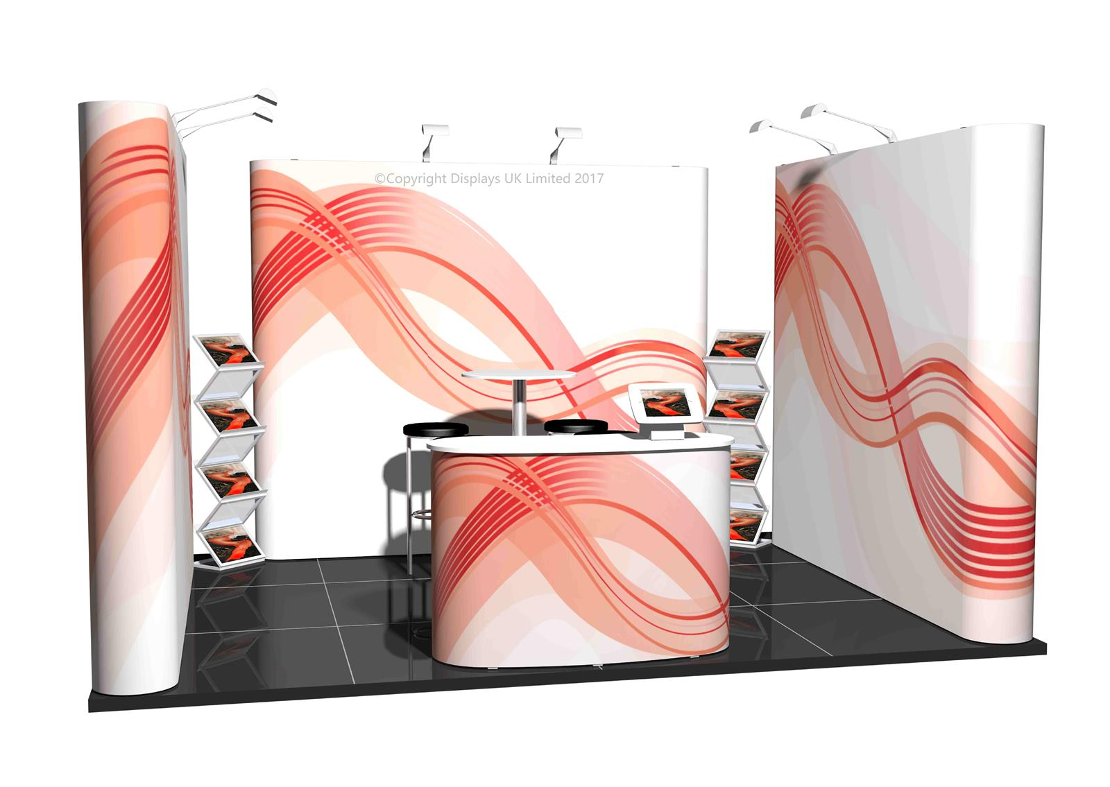 3m x 4m Linked Pop Up Exhibition Stand - Kit 19 - P4x3-1aS