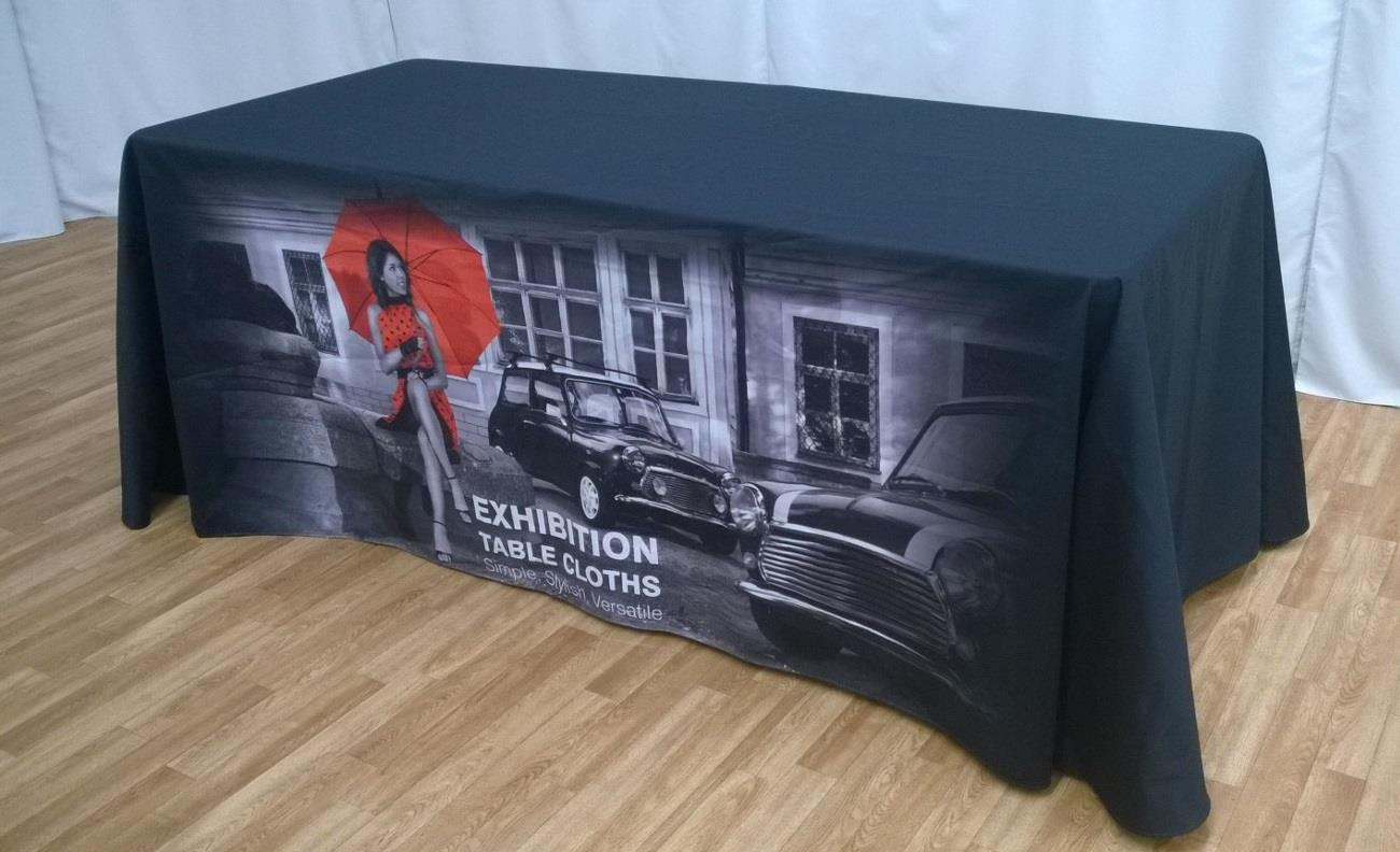 Branded Table Cloth for 4ft Trestle Table with Full Print
