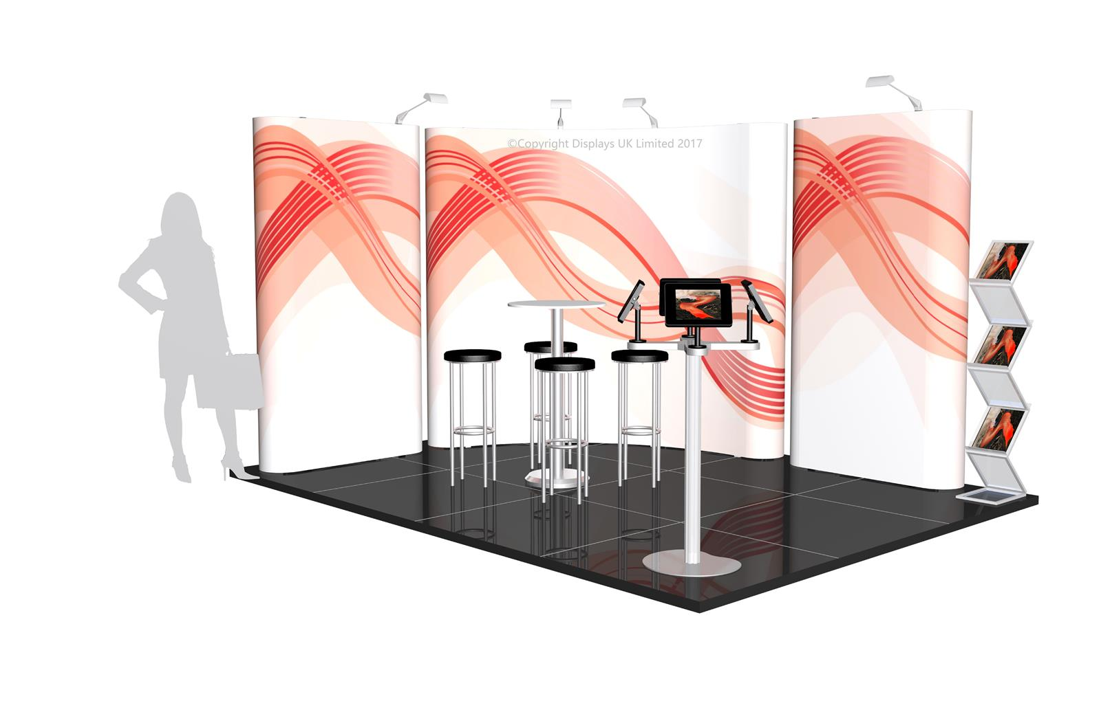 3m x 4m Linked Pop Up Exhibition Stand - Kit 20 - P4x3-2aC