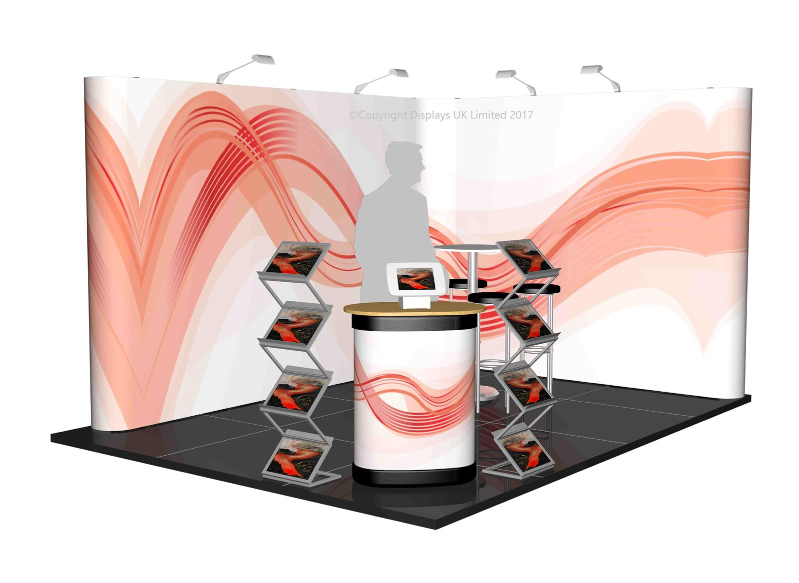 3m x 4m Linked Pop Up Exhibition Stand - Kit 21 - P4x3-2aS