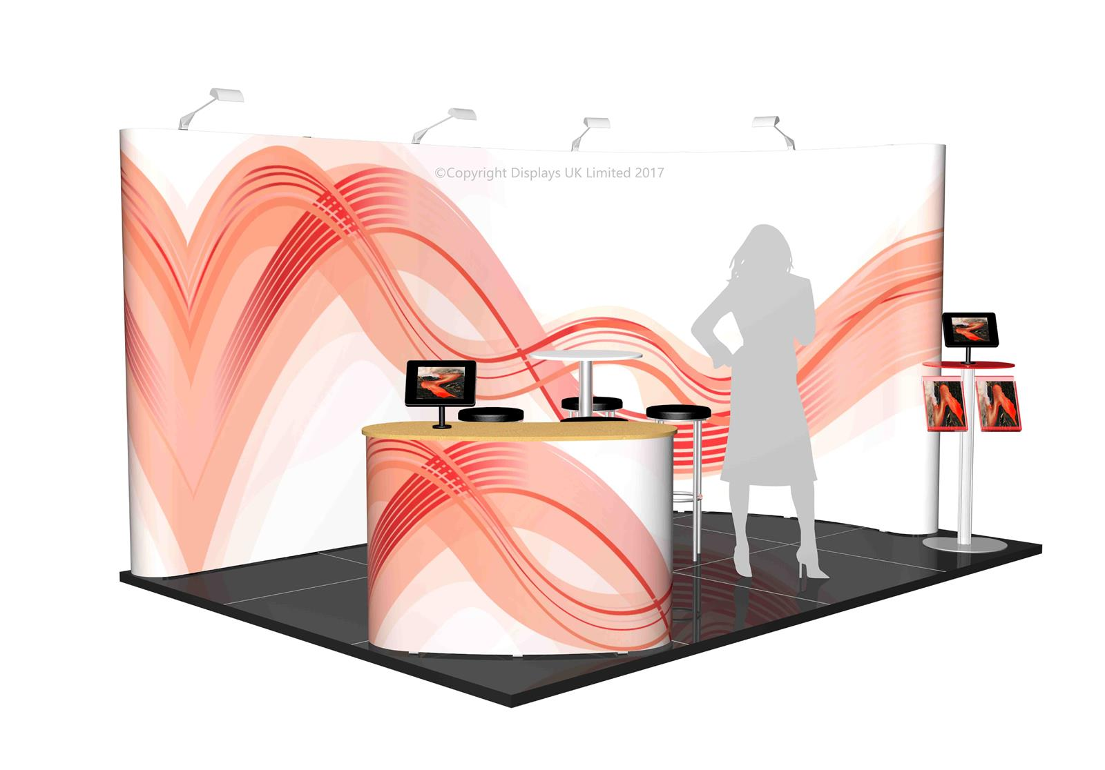 3m x 4m Linked Pop Up Exhibition Stand - Kit 22 - P4x3-2bC