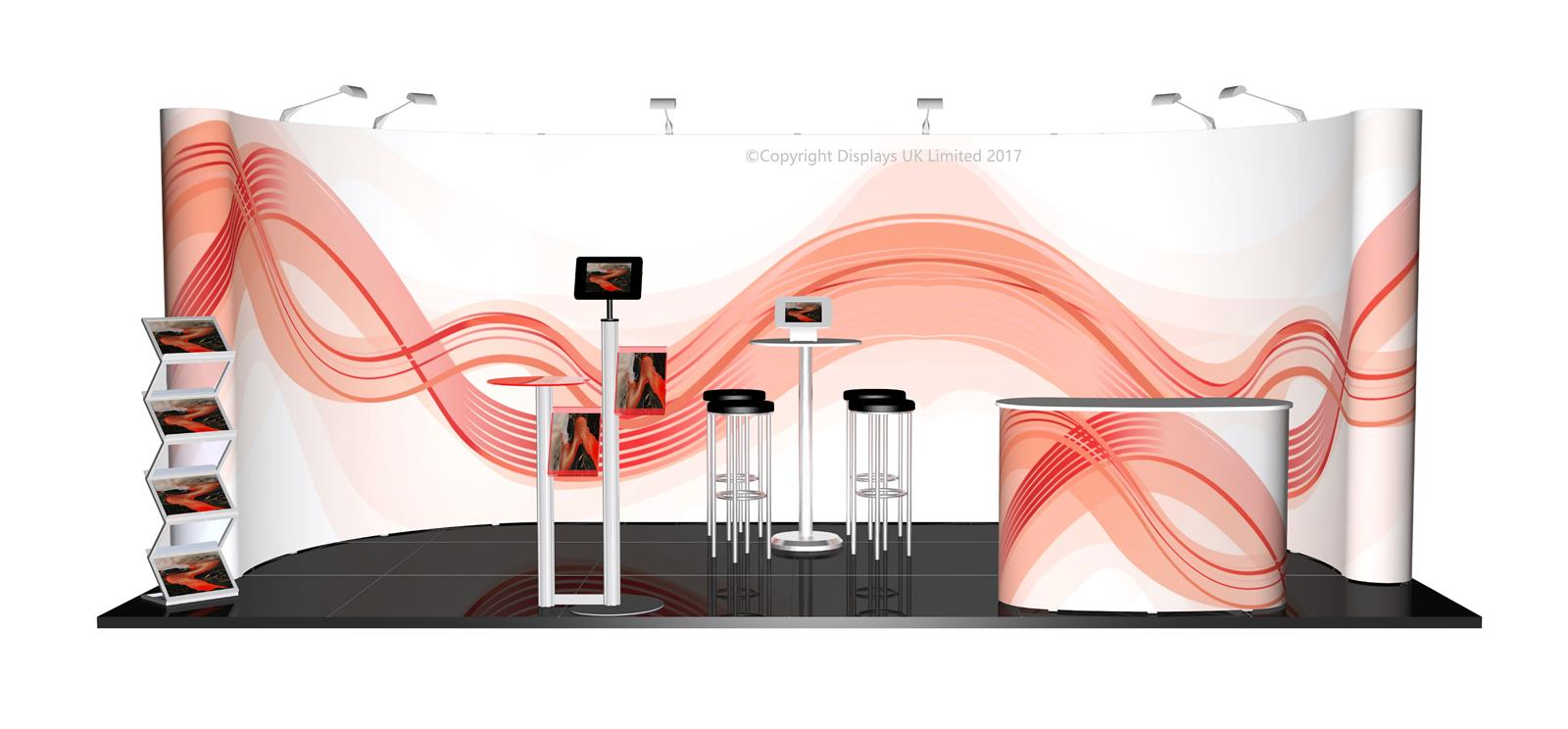 3m x 6m Linked Pop Up Exhibition Stand - Kit 32 - P6x3-1aC