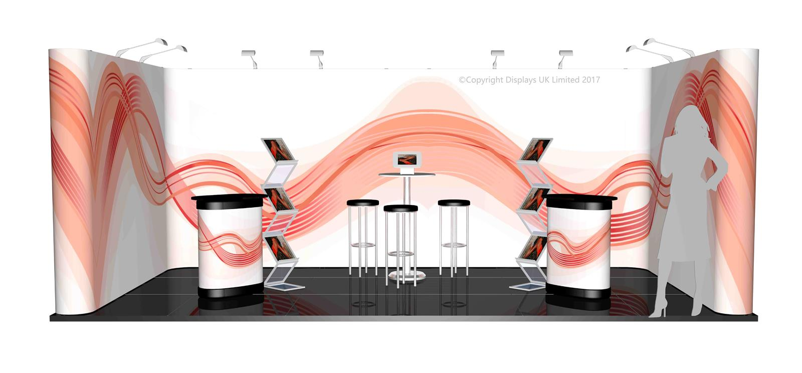 3m x 6m Linked Pop Up Exhibition Stand - Kit 33 - P6x3-1aS