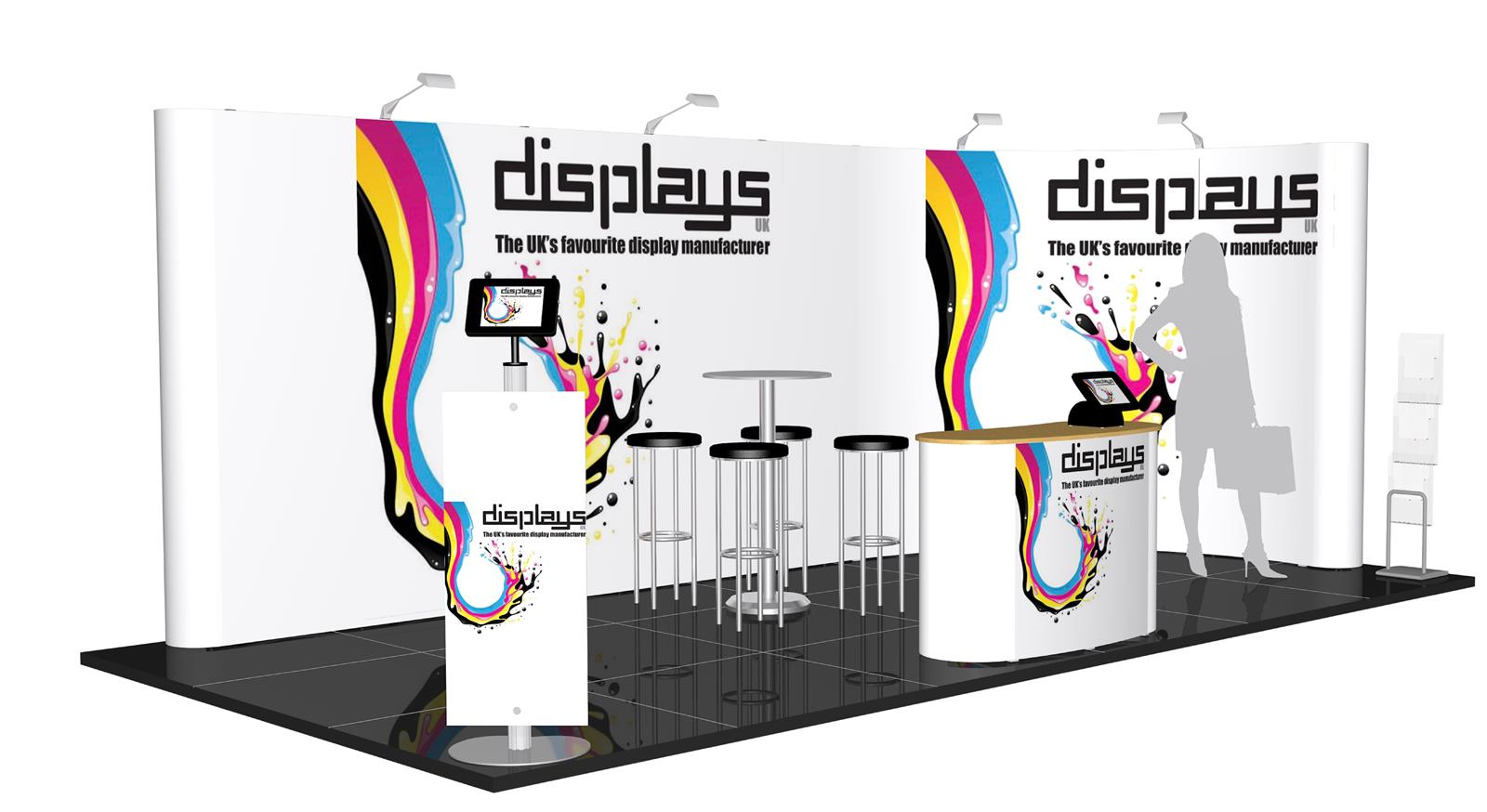 3m x 6m Linked Pop Up Exhibition Stand - Kit 34 - P6x3-2aC