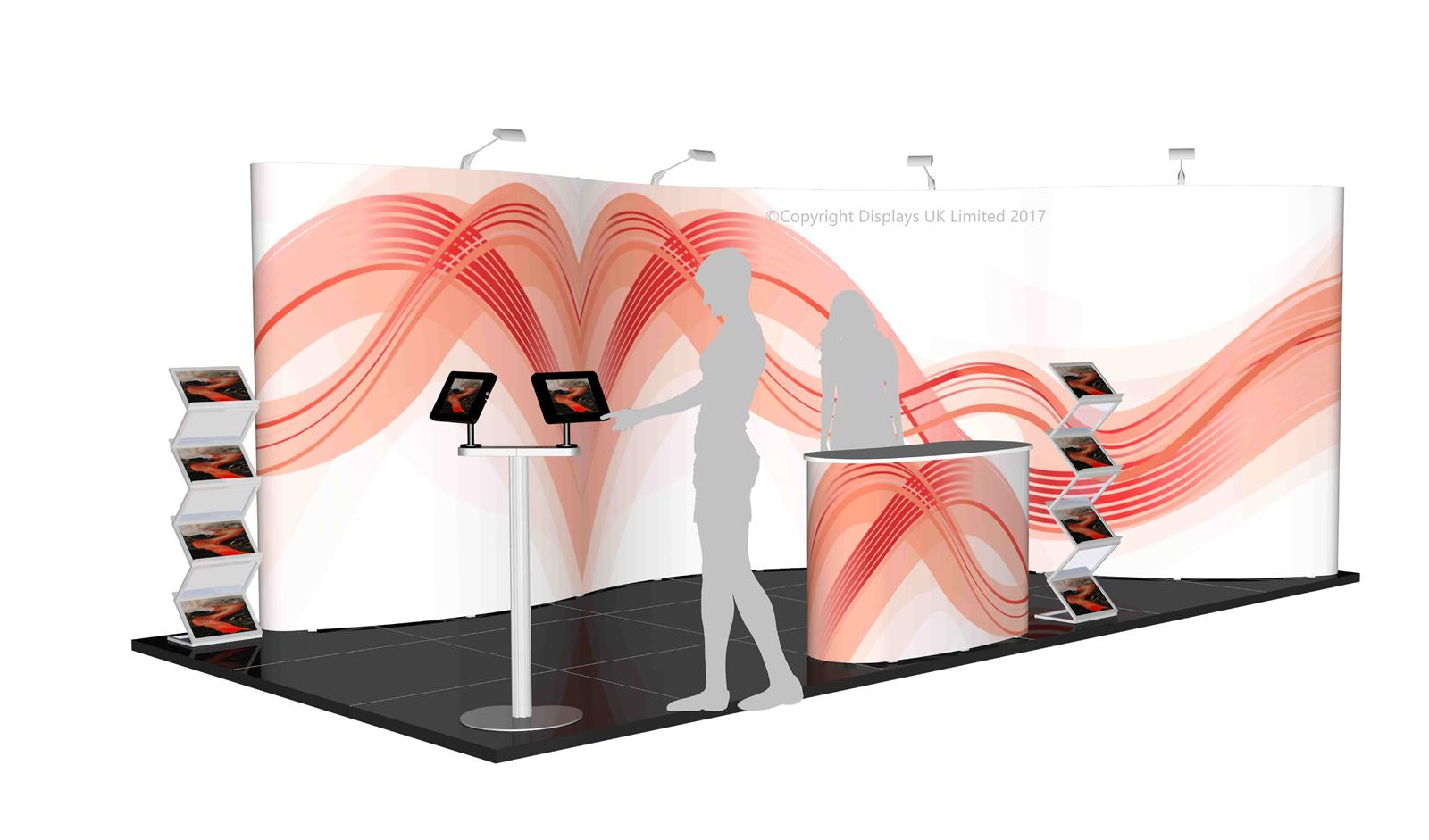 3m x 6m Linked Pop Up Exhibition Stand - Kit 35 - P6x3-2aH