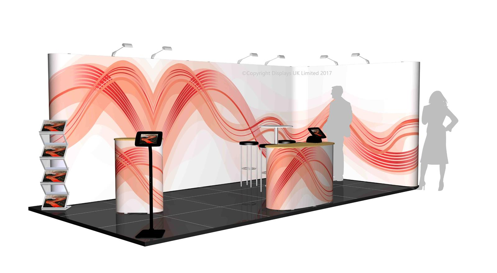 3m x 6m Linked Pop Up Exhibition Stand - Kit 36 - P6x3-2aS
