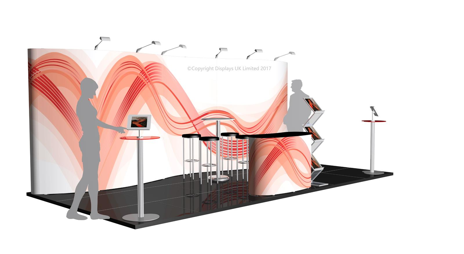 3m x 6m Linked Pop Up Exhibition Stand - Kit 37 - P6x3-3aH