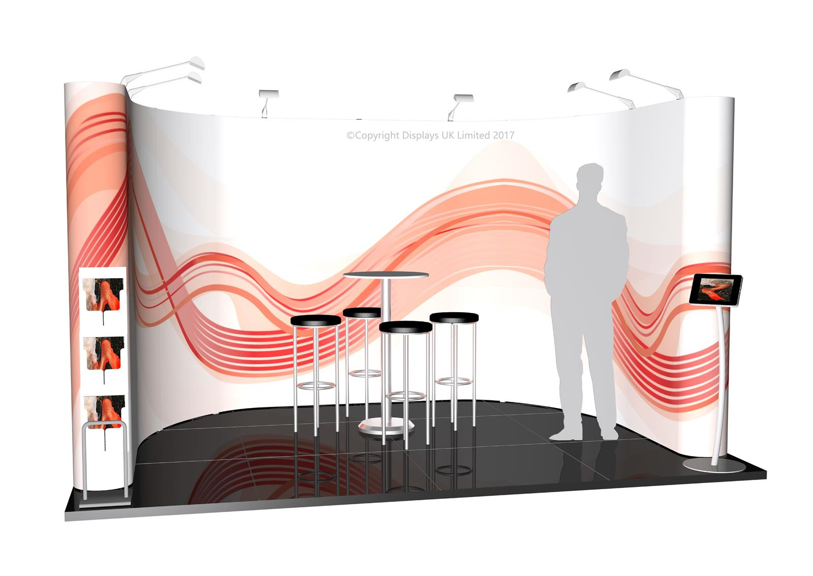 3m x 4m Linked Pop Up Exhibition Stand - Kit 18 - P4x3-1aC