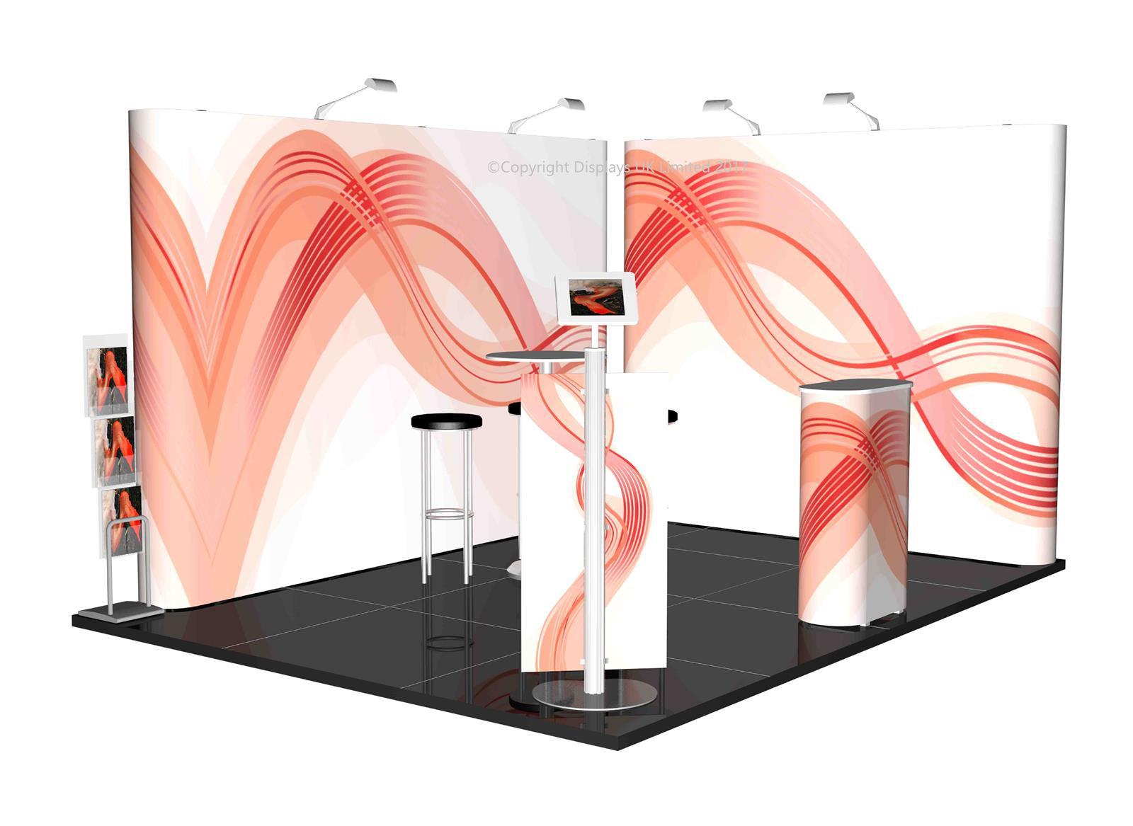 3m x 4m Linked Pop Up Exhibition Stand - Kit 23 - P4x3-2bS