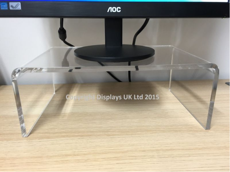 Perspex Clear Acrylic Monitor Stand 10mm