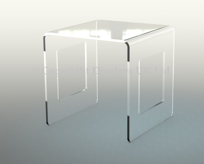 Perspex Acrylic Bedside/Side Table in 8mm