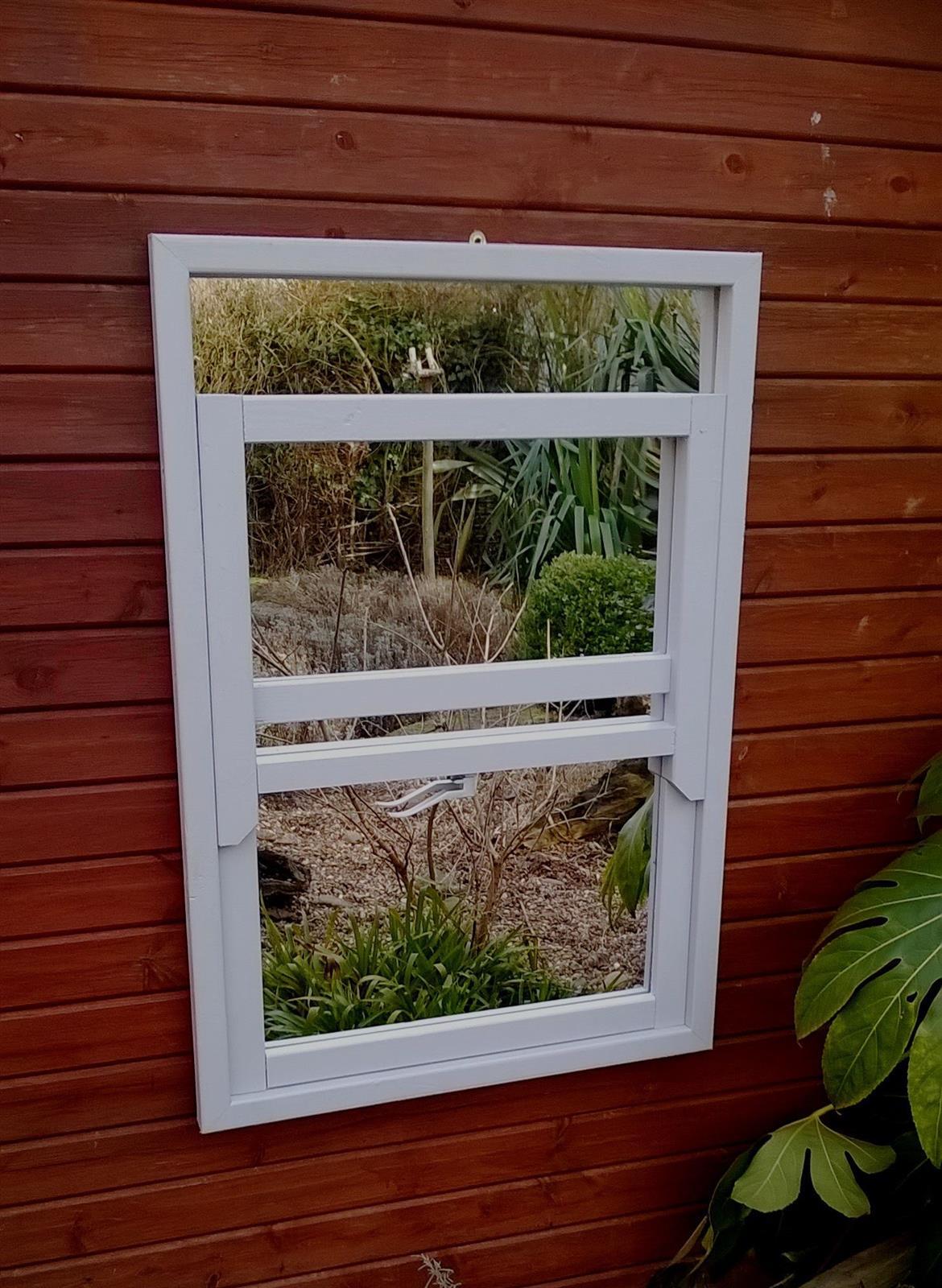 Garden Mirror Sash Window Illusion