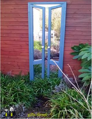 Garden Mirror French Doors Ajar Illusion