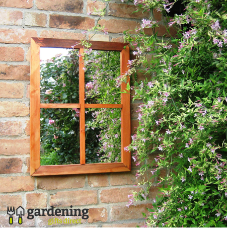 Garden Mirror Victorian Window Illusion
