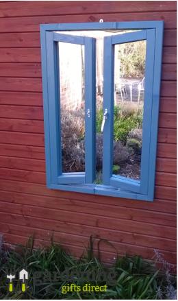 French Window Ajar Illusion Garden Mirror
