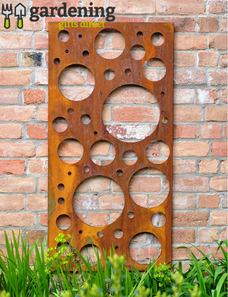 Rusty Bubble Decorative Garden Panel
