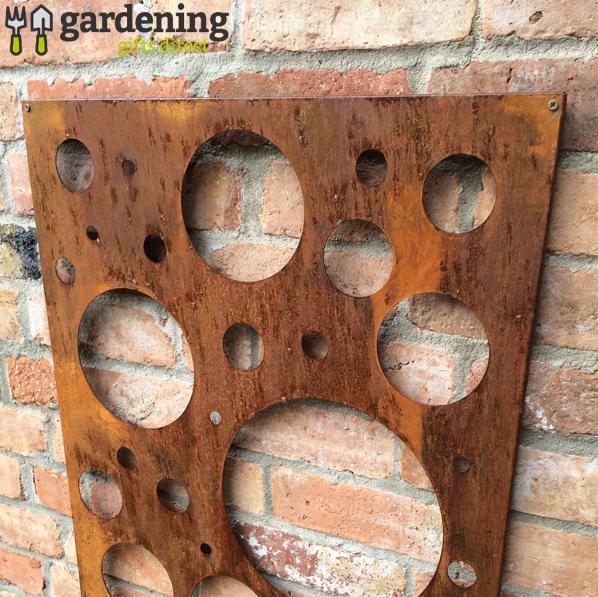Rusty Bubble Decorative Garden Panel