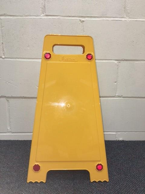 Retail Yellow Warning Floor Sign